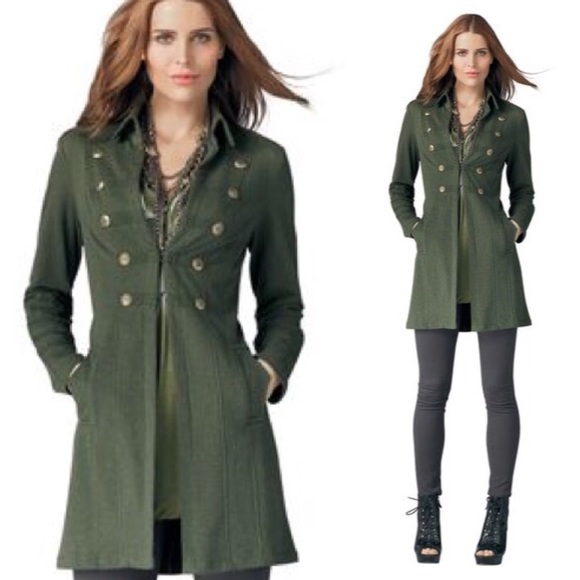 655b66e103c CAbi Jackets   Blazers - CAbi Cavilleri Jacket Green Military Pea Coat Sml